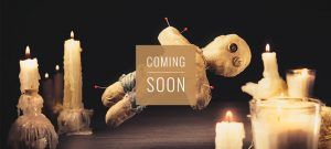 voodoo doll coming soon banner - escape room