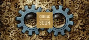 the incredible machine coming soon banner - escape room