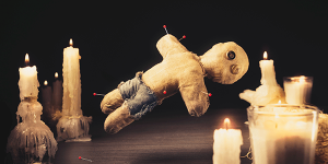 voodoo doll banner